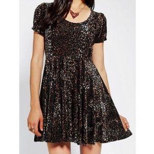 Minkpink Babydoll Leopard Print Dress